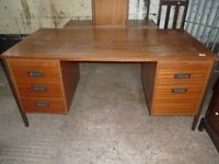 Metal Framed Office Desk with Drawers Both Sides Delivery Available