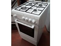 New World NW50GSO 50cm Freestanding Single Cavity LPG Option GAS Cooker in white