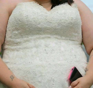 Plus size wedding dress.