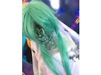 Green anime style wig