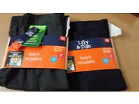 ((Brand new)) boys school trousers size 8-9 navy and gray👍