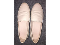 Nude ASOS Size 5 Slip-On Loafers