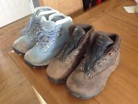 2 x pairs of hiking boots size 4