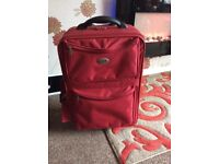 Deep Red Suitcase