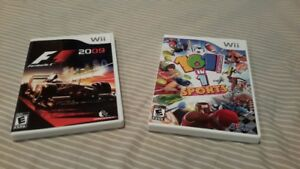 Wii Games. Rare  F1 2009  &  101 in 1 Sports
