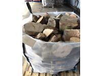 Seasoned Mixed hardwood off cuts --not split