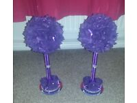 Topiary candlestick table decorations