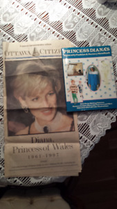 Two Princess Diana collectables.