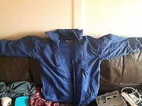 Ski clothing . Jacket trouser and helmet