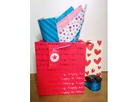 Gift bags, wraps etc