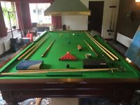 Allied Billiards - FULL SIZE SNOOKER TABLE Mahogany Wood 5 x Slate Pieces