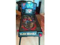 alien assault pin ball machine kids