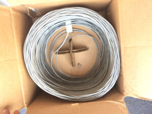 Partial box of CAT3 network cable