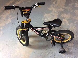Tonka bike with training wheels