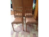 Retro oak dining chairs (4)