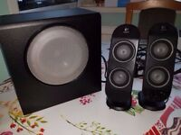 Logitech X-230 2.1 Sound System Stereo Speakers - Perfect Condition
