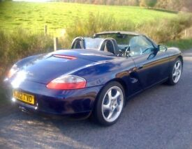 Blue Boxster 986 with black leather