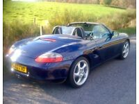SOLD: Blue Boxster 986 with black leather