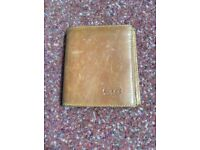 Men's Brown Leather Gucci Wallet - Never Used but worn with time...
