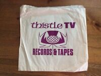 THISTLE TV RECORDS AND TAPES PAPER BAG - WOULD ANYONE LIKE THIS FOR SENTIMENTAL REASONS?