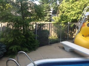 CLÔTURE POUR PISCINE - FENCE FOR ABOVE GROUND SWIMMING POOL