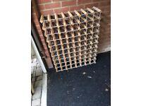 Wooden wine rack x 2