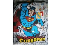 Boys Next Superman Snuggle Pyjamas 4-5years brand new in bag
