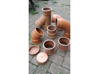 Pipe Drainage Fittings x 9 (100mm)