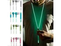 NEW Glow in the Dark Zipper Headphones