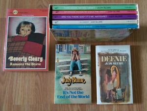 Judy Blume and Beverly Cleary books