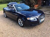Audi A4 Cabriolet 1.8 T Sport Cabriolet,Facelift,Full leather,68,254 miles with history,MOT,2 keys