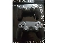 Playstation 4 dual shock controllers