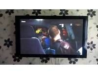 Pioneer 50inch tv with external speakers and media control box