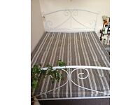 Stripy double futon