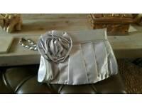 Brand new silver clutch bag
