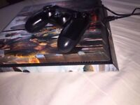 PlayStation 4 500GB Console (Mint Condition With Removable Assassins Creed Stickers)