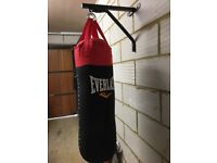 Everlast 3ft punch bag & accessories - immaculate condition