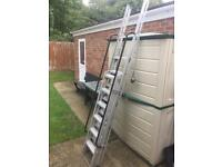 INDUSTRIAL GRAVITY LOFT LADDER 2 SUPPORT HANDLES ALUMINIUM. CAN DELIVER.