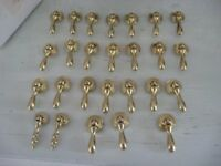 JOB LOT OF 26 GOLD METAL DROP FURNITURE HANDLES