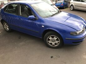 Seat Cupra sold, BUT DO HAVE A SEAT LEON , 2002 Petrol,Drives well alloys,CD, EW scratch on door