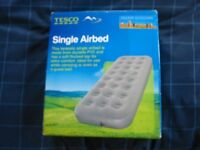 SINGLE FLOCKED AIRBED - BRAND NEW!!