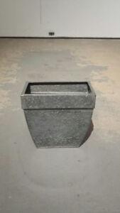 Galvanized Steel Decor Pots