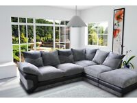 BRAND NEW SOFA 3+2 DINO OR CORNER UNIT JUMBO FABRIC CORD 1 YEAR WARRANTY