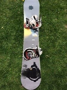 RIDE Snowboard, bindings, boots and bag