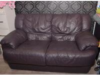 Aubergine sofa 2 seater