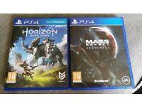 PS4 Horizon Zero Dawn & Mass Effect Andromeda for sale!