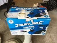 Silverside 710w Planer in original box, variable depth planing control.