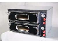 "Electric Double Pizza Oven, Commercial,2x4 13""pizza, 1 year Warranty, Single/3 phases, 48hr delivery"