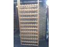 Pine wine racks
