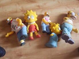 5 Simpsons teddies